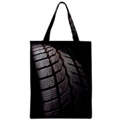 Auto Black Black And White Car Zipper Classic Tote Bag