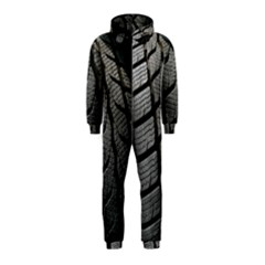 Auto Black Black And White Car Hooded Jumpsuit (Kids)