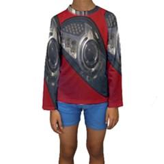 Auto Red Fast Sport Kids  Long Sleeve Swimwear
