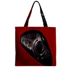 Auto Red Fast Sport Zipper Grocery Tote Bag