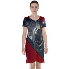 Auto Red Fast Sport Short Sleeve Nightdress