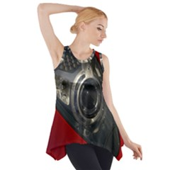 Auto Red Fast Sport Side Drop Tank Tunic