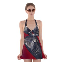 Auto Red Fast Sport Halter Swimsuit Dress