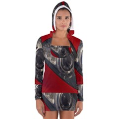 Auto Red Fast Sport Women s Long Sleeve Hooded T-shirt