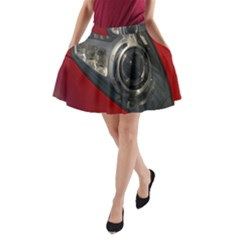Auto Red Fast Sport A-Line Pocket Skirt