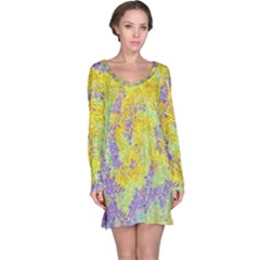 Backdrop Background Abstract Long Sleeve Nightdress