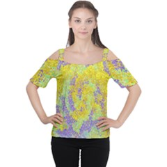 Backdrop Background Abstract Women s Cutout Shoulder Tee