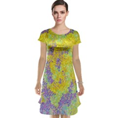 Backdrop Background Abstract Cap Sleeve Nightdress
