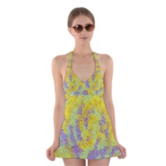 Backdrop Background Abstract Halter Swimsuit Dress