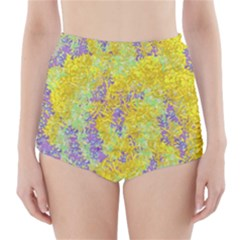 Backdrop Background Abstract High-Waisted Bikini Bottoms