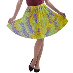 Backdrop Background Abstract A-line Skater Skirt