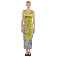 Backdrop Background Abstract Fitted Maxi Dress