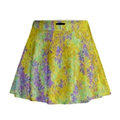 Backdrop Background Abstract Mini Flare Skirt