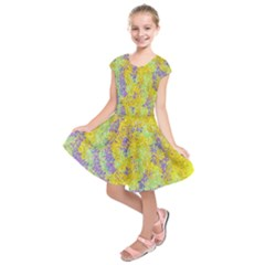 Backdrop Background Abstract Kids  Short Sleeve Dress