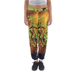 Backdrop Background Tree Abstract Women s Jogger Sweatpants
