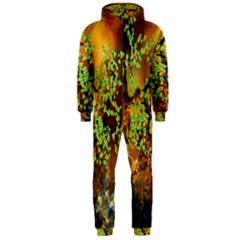Backdrop Background Tree Abstract Hooded Jumpsuit (men)