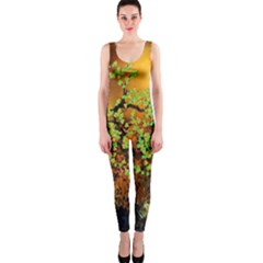 Backdrop Background Tree Abstract Onepiece Catsuit