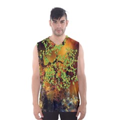 Backdrop Background Tree Abstract Men s Basketball Tank Top