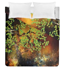 Backdrop Background Tree Abstract Duvet Cover Double Side (queen Size)