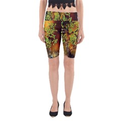 Backdrop Background Tree Abstract Yoga Cropped Leggings
