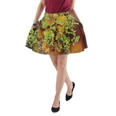 Backdrop Background Tree Abstract A Line Pocket Skirt