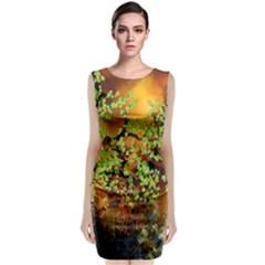 Backdrop Background Tree Abstract Classic Sleeveless Midi Dress