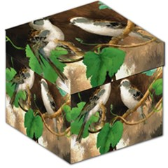 Backdrop Colorful Bird Decoration Storage Stool 12