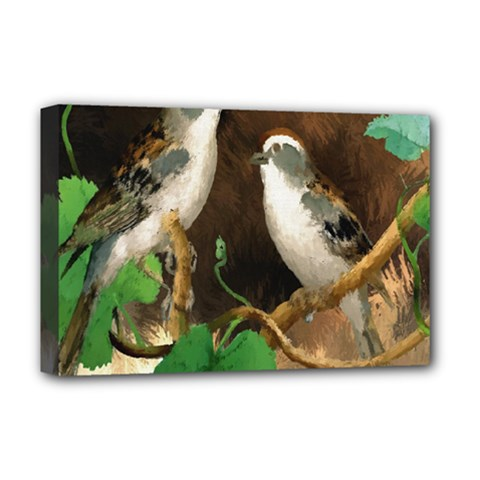 Backdrop Colorful Bird Decoration Deluxe Canvas 18  x 12
