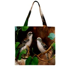 Backdrop Colorful Bird Decoration Zipper Grocery Tote Bag