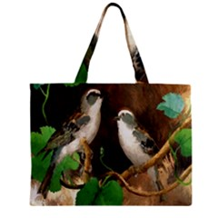 Backdrop Colorful Bird Decoration Zipper Mini Tote Bag