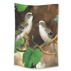 Backdrop Colorful Bird Decoration Large Tapestry