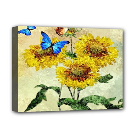Backdrop Colorful Butterfly Deluxe Canvas 16  x 12
