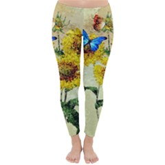 Backdrop Colorful Butterfly Classic Winter Leggings