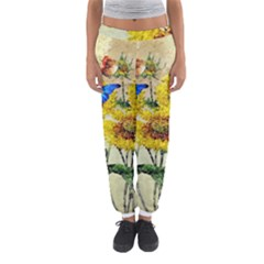 Backdrop Colorful Butterfly Women s Jogger Sweatpants