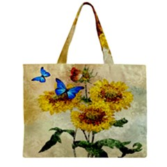 Backdrop Colorful Butterfly Zipper Mini Tote Bag