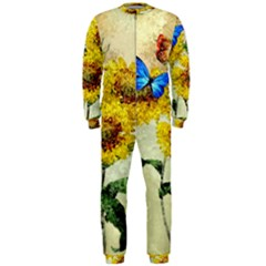 Backdrop Colorful Butterfly Onepiece Jumpsuit (men)