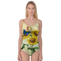 Backdrop Colorful Butterfly Camisole Leotard