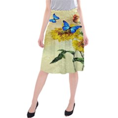 Backdrop Colorful Butterfly Midi Beach Skirt