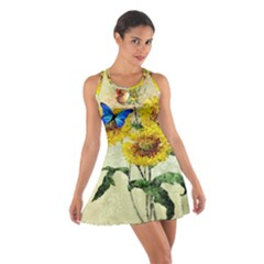 Backdrop Colorful Butterfly Cotton Racerback Dress