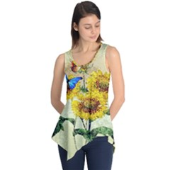 Backdrop Colorful Butterfly Sleeveless Tunic