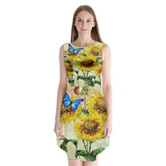 Backdrop Colorful Butterfly Sleeveless Chiffon Dress