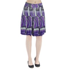 Purple Agate Natural Pleated Skirt