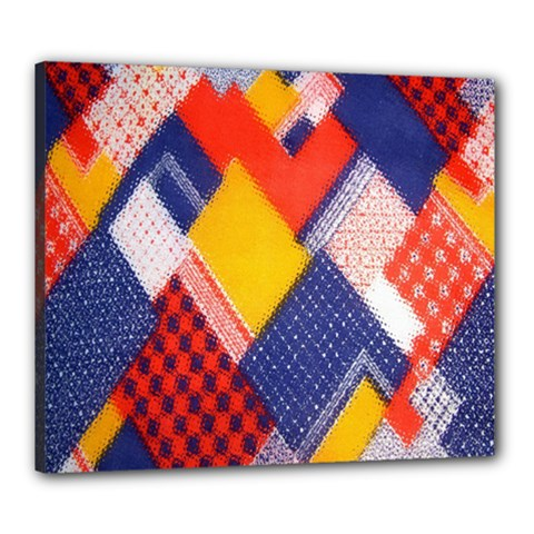 Background Fabric Multicolored Patterns Canvas 24  X 20