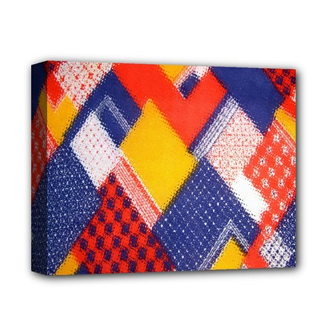 Background Fabric Multicolored Patterns Deluxe Canvas 14  x 11