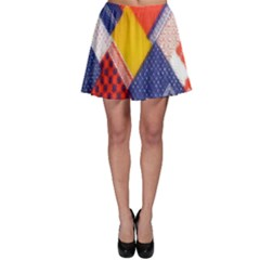 Background Fabric Multicolored Patterns Skater Skirt