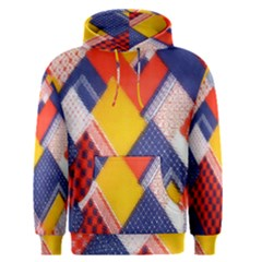 Background Fabric Multicolored Patterns Men s Pullover Hoodie