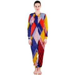 Background Fabric Multicolored Patterns OnePiece Jumpsuit (Ladies)