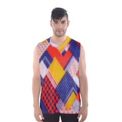 Background Fabric Multicolored Patterns Men s Basketball Tank Top