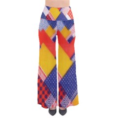 Background Fabric Multicolored Patterns Pants