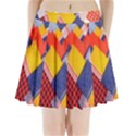 Background Fabric Multicolored Patterns Pleated Mini Skirt View1